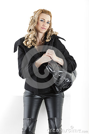 Woman in with a handbag