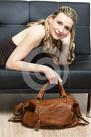 Woman with a handbag