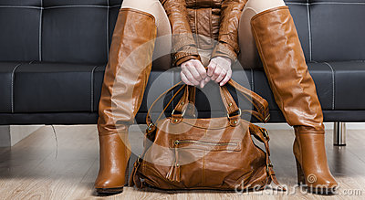 Woman with a handbag