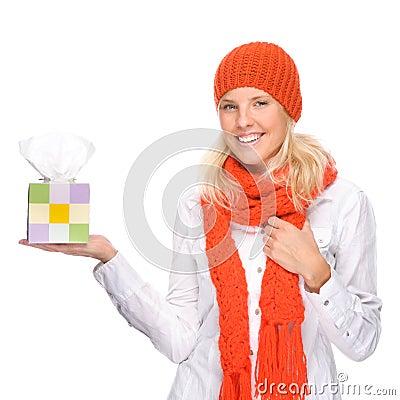 Woman with handkerchief