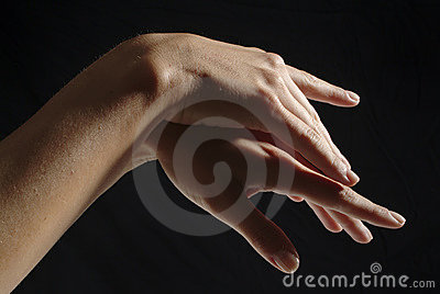 Woman hands, manicured
