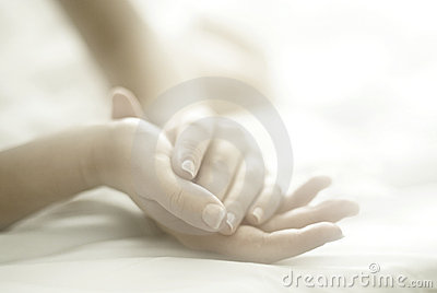 Woman hands soft focus