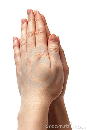 Woman hands symbolizing prayer