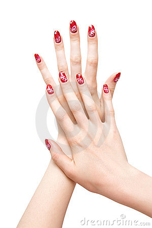 Free Woman Hands With Painted Nails Royalty Free Stock Photo - 2850575