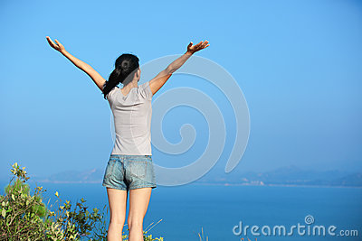 Woman happy outdoor
