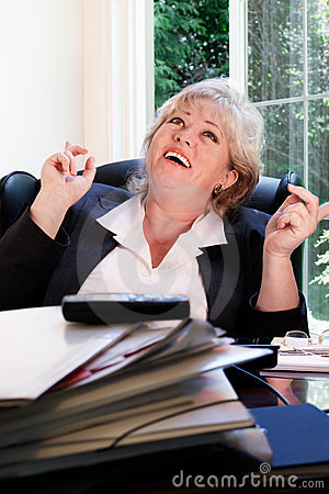Woman Happy At Work Royalty Free Stock Image - Image: 20874506