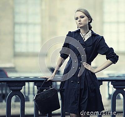 Free Woman Has Walking On A Street Royalty Free Stock Photos - 130502508