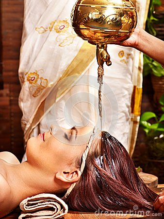 Free Woman Having Ayurvedic Spa Treatment. Royalty Free Stock Photography - 29083587