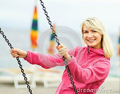 Woman having fun outdoors