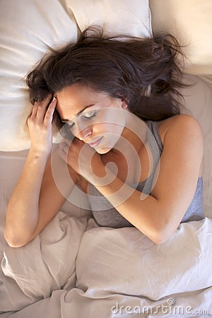 Woman Having a Good Night s Sleep