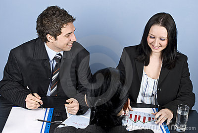Woman having a job interview