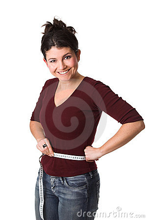 Free Woman Having Lost Weight Royalty Free Stock Photography - 1629137
