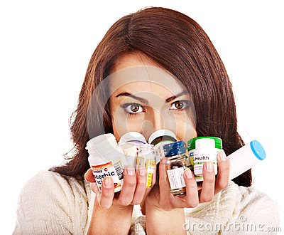 Woman Having Pills And Tablets. Royalty Free Stock Image - Image: 27442166