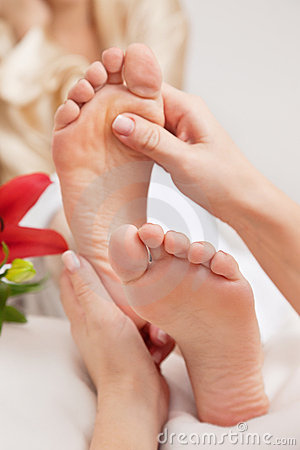 Woman Having Reflexology