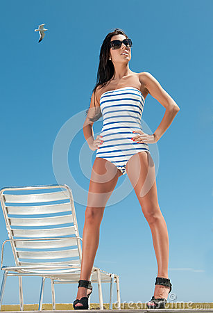 Woman having sun