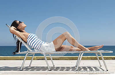 Woman having sun