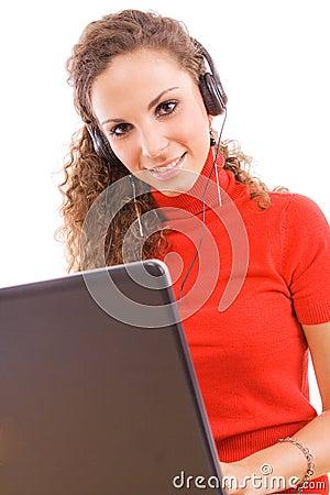 Woman and headphones