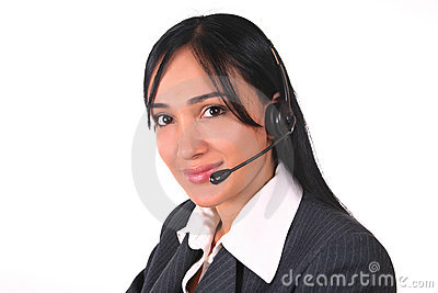 Woman headset and chair