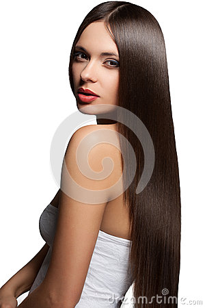Woman with  healthy long hair.