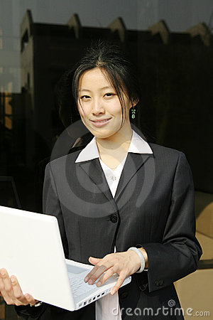 Woman with her laptop