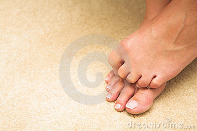 Woman hiding toes