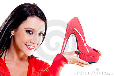 Woman with high-heels