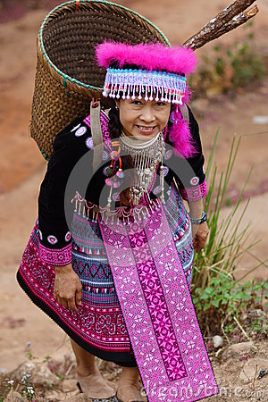 Woman in hill tribe dress