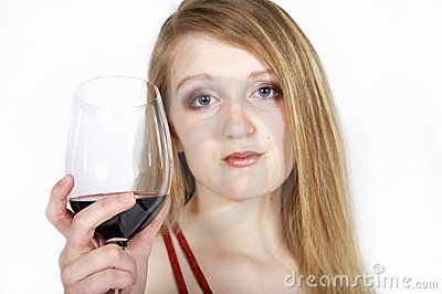 Woman hold wine glass