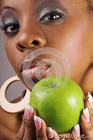 Free Woman Holding Apple Stock Photos - 2833243