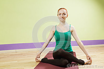woman holding big toes stock photo  image 54547270