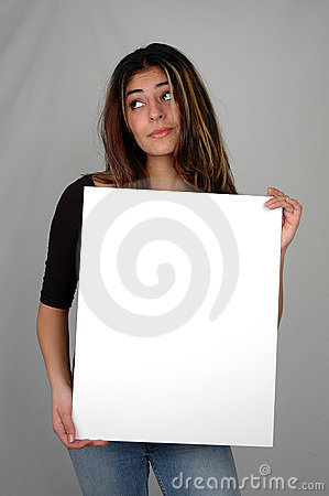 Woman holding a board-7