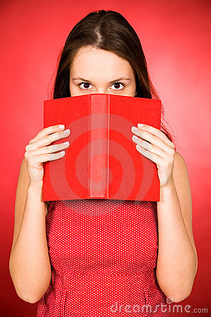 Woman holding book