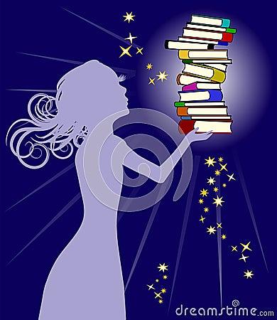 Free Woman Holding Books Royalty Free Stock Photo - 10485405