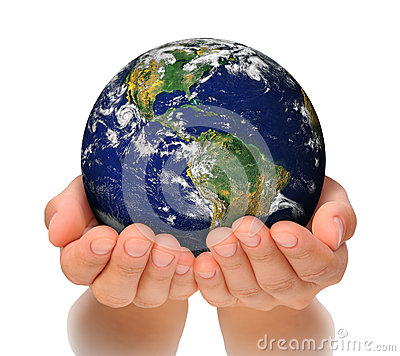 Free Woman Holding Globe On Her Hands Royalty Free Stock Photos - 28588208