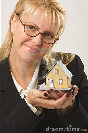 Woman Holding House