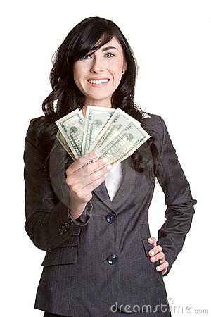 Free Woman Holding Money Royalty Free Stock Images - 2328909