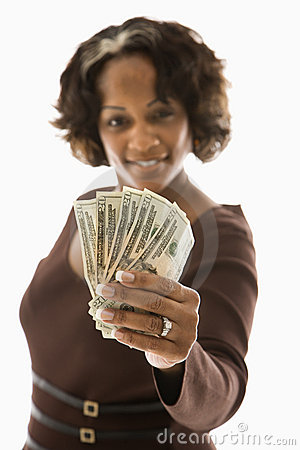 Free Woman Holding Money. Royalty Free Stock Images - 3613229