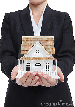 Woman Holding New Home