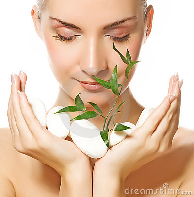 Free Woman Holding Plant Royalty Free Stock Image - 5142176