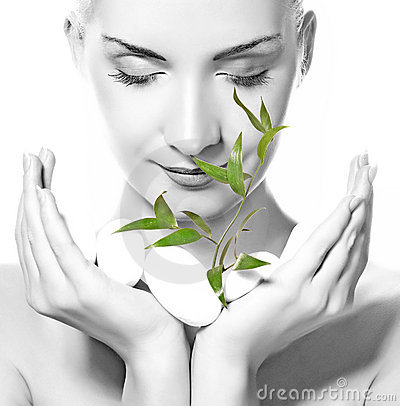 Free Woman Holding Plant Stock Photography - 6679582