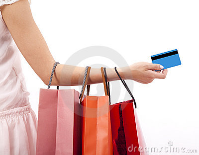 Woman Holding Shopping Bags Stock Photo - Image: 19552220