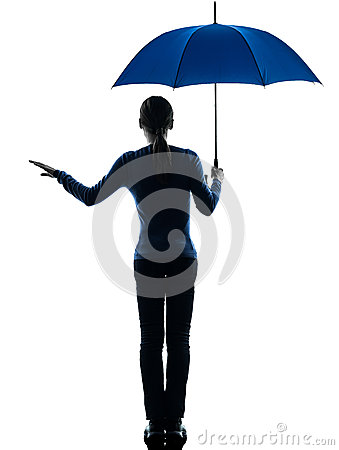 Woman Holding Umbrella...