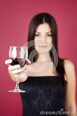Free Woman Holding Wine Royalty Free Stock Photos - 7958288