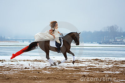 Woman on a horse