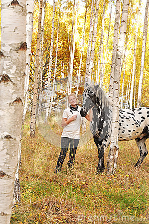 Woman and horse