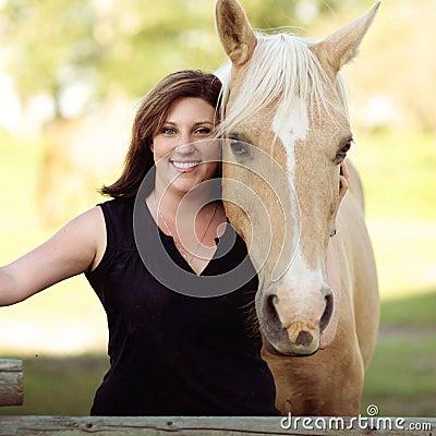 Woman And Horse Portrait Free Public Domain Cc0 Image
