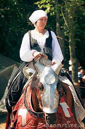 Woman on  horseback Editorial Stock Photo