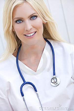 Woman Hospital Doctor With Stethoscope