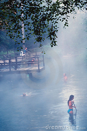 Woman in Hotsprings