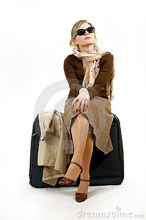 Woman with huge bag